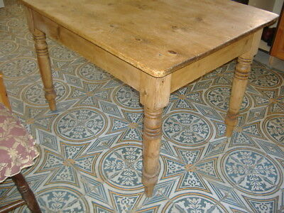 Antique Pine Table with drawer.