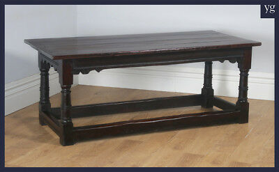 "Antique Charles II 6ft 3"" Solid Oak Farmhouse Kitchen Refectory Dining Table"