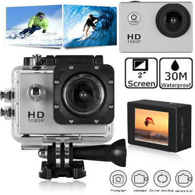 HD 1080P Waterproof Action Camera LCD Screen Digital Video Recorder Camcorder