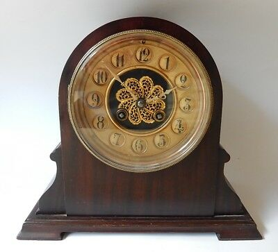 French late Victorian Mahogany Case Striking  Mantel Clock 2883