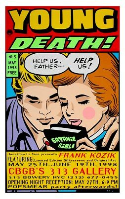 Frank Kozik Print Limited Edition Young Death! 61 x 91cm