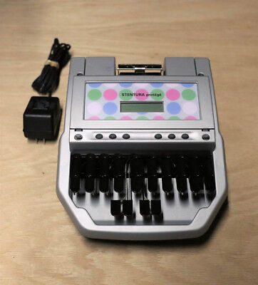 Stentura Protege Stenograph Machine Student Model # S-8077 - Good Condition