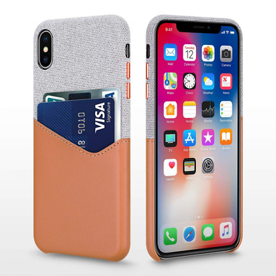 Wallet Case for 6.5'' iPhone Xs Max, Soft-Touch Fabric Protective Cover US SHIP