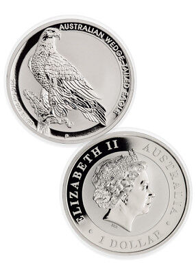 2016-P Australia $1 1 oz. Silver Wedge Tailed Eagle Coin In Mint Cap SKU38608