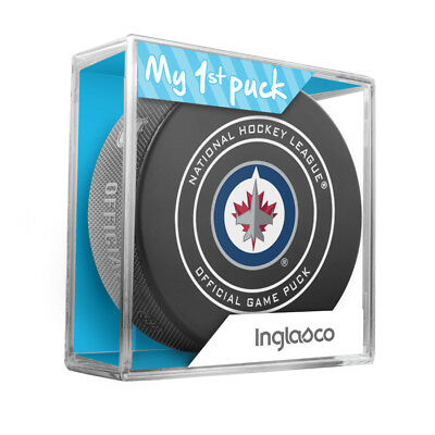 New Winnipeg Jets My First Official Puck In Case Baby Boy Blue