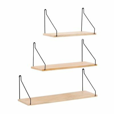 Wall Shelf Partition Storage Solid Hanging Wrought Wood Board Iron Metal Bracket