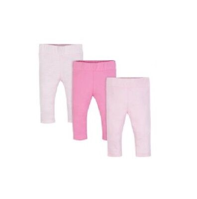 Wonder Nation Baby Girl 3-Pack Pink Striped Pants Size 3-6M
