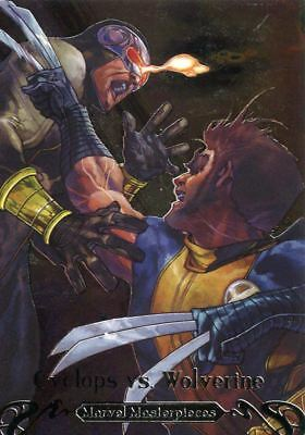 Marvel Masterpieces 2018 Battle Spectra Chase Card BS-9 Cyclops vs. Wolverine