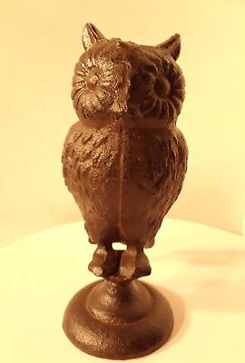 Cast Iron Owl Sculpture or paperweight Rustic