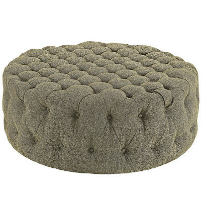 Remarkable Modway Amour Fabric Upholstered Button Tufted Round Ottoman Bralicious Painted Fabric Chair Ideas Braliciousco