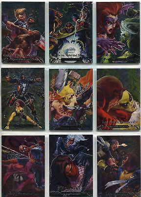 Marvel Masterpieces 2018 Complete Battle Spectra Chase Card Set BS1-15