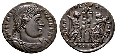 CONSTANTINE THE GREAT (330-335 AD) Ae3 Follis, Arles #RB 463