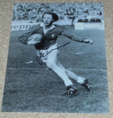 JPR WILLIAMS  - WELSH RUGBY LEGEND  -10x8  PHOTO SIGNED (6)
