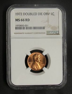 1972 Lincoln Cent Double Die Obverse NGC MS 66 RD