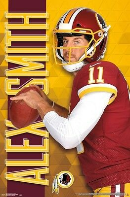 ALEX SMITH Washington Redskins Quarterback 2018 NFL Football Action WALL  POSTER cf672db2f