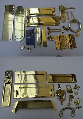 POLISHED BRASS  -Door furniture main front entrance traditional Accessories