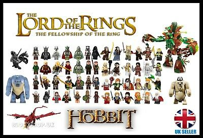 LORD OF THE RINGS / HOBBIT HEROS & ORCS + FULL BATTLE SETS - fits lego figure
