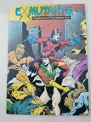 EX-MUTANTS: A GRAPHIC NOVEL OF THE SHATTERED EARTH Vol 1 1988 RON LIM! UNREAD NM