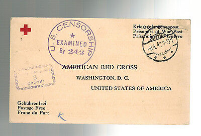 1942 Germany POW Prisoner of War Cover Red Cross Marlag British Merchant Sailor