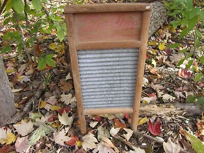 Two in One Junior Washboard- Vintage Rustic Farmhouse Decor