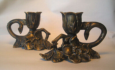 A Pair of Art Nouveau Christmas Candle Holders Z25