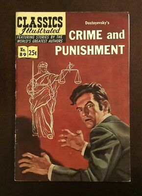 Classic Illustrated #89 High Grade Issue- Crime and Punishment HRN 169