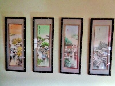 Ink Wash/Watercolor Paintings, Traditional Japanese Four Season