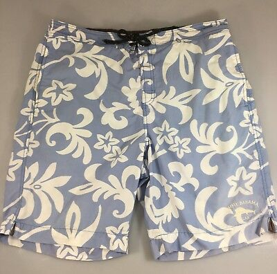 a0d6cab7bc Tommy Bahama Relax Mens L Light Blue Floral Lined Board Shorts Swim Trunks