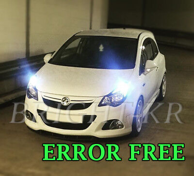 2x DRL VAUXHALL ASTRA J DAY TIME RUNNING COOL WHITE BULBS CORSA D ERROR FREE