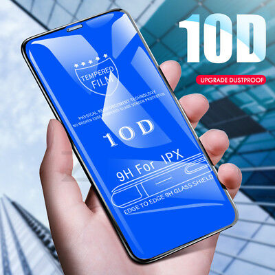 6D 10D Fit Apple iPhone X Xs100%Tempered Glass Screen Film Protector 9H Guard UK