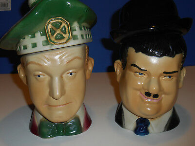 Vintage Laurel And Hardy Whiskey Bottles From 1976 Year From Ezra Brooks