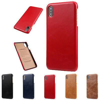 Shockproof Slim Real Leather Scrub Back Case Cover For iPhone X 6 7/8 Xs Max/XR