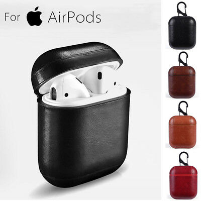 For Apple AirPods Genuine Leather Case Shockproof Earphone Charger Skin Cover