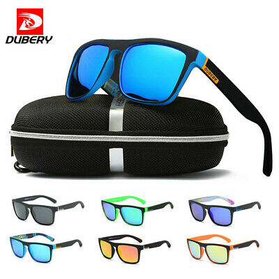 DUBERY Men Sport Polarized Sunglasses Outdoor Driving Square Eyewear Goggles