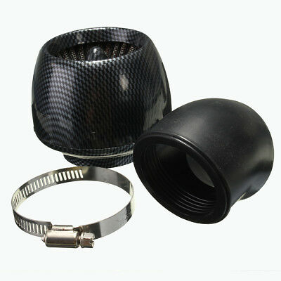 48mm Air Filter Carbon Fiber Gauze K+N Style For 140 150 160cc Pitbike Scooter