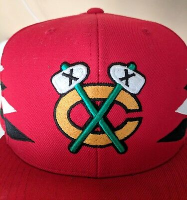 Mitchell & Ness Chicago Blackhawks Snap Back Red Black White Tomahawks