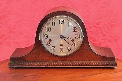 Vintage German 'Kienzle' 8-Day Napoleon Hat Mantel Clock with Westminster Chimes