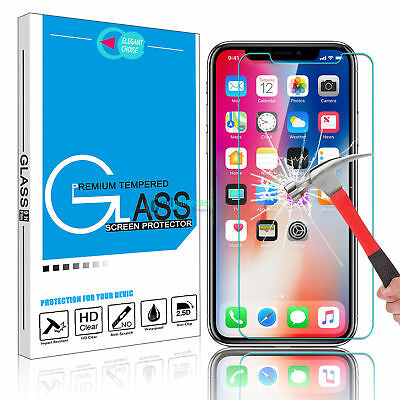 2X Gorilla Tempered Glass Screen Film Protector for New iPhone XS Max,XR,XS,X