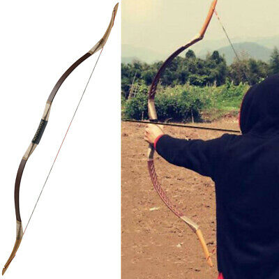 40lb Archery Recurve Bow Traditional Longbow Mongolian Horsebow Hunting Shooting