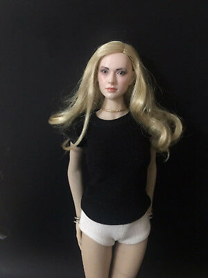 "1/6 Scale Women's Black T-shirt For 12"" Female Action Figure doll"