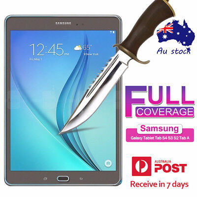 Premium Tempered Glass Screen Protector Samsung Galaxy Tablet Tab S4 S3 S2 Tab A