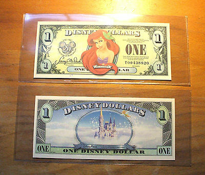 "2007 DISNEY DOLLAR - ARIEL - Mint Condition - THE LITTLE MERMAID - ""T"" Series"