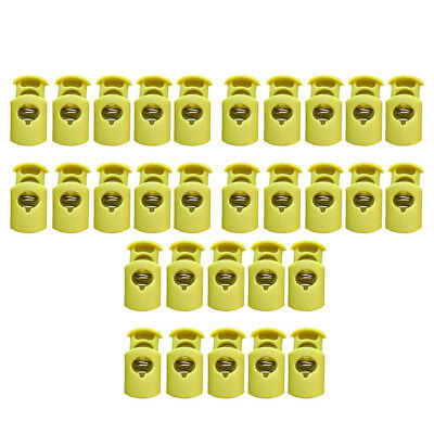 30Pcs Cord Lock Toggles Barrel Stopper Single Hole Plastic for Bags 28*15mm