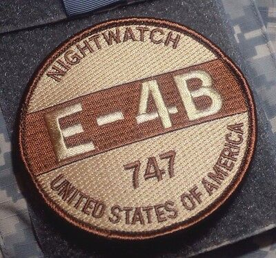 DOOMSDAY AFSOC AWACS BOEING 747 E-4B NIGHT WATCH Size Does Matter vel ⚙ PATCH
