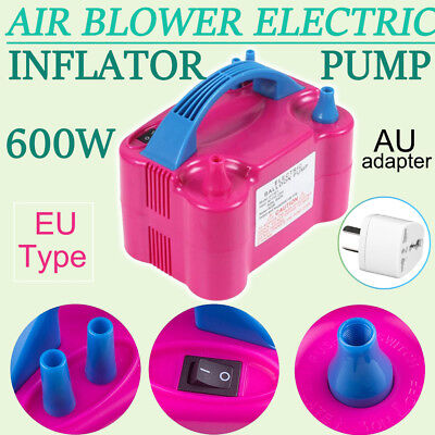 Portable 600W High Power Two Nozzle Air Blower Electric Balloon Inflator Pump MG