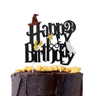 Harry Potter Happy Birthday Cake Topper Bunting Party Decoration Anniversary AL