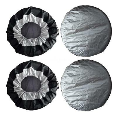 4PCs  Wheel Tire Covers Bag Auto Truck Car Camper Trailer Dustproof