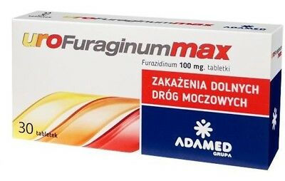Urofuraginum Max 30 tablets 100mg Urinary Tract Infection Treatment 30 tabletek