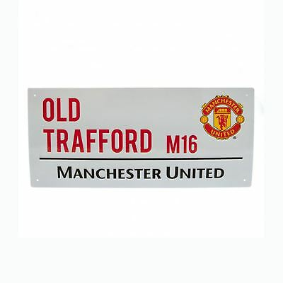 Manchester United Old Trafford Street Sign Kids Bedroom Wall Decor Free P+P