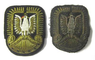 Polish Air Force Badge RAF Officer Cap WW2 Hat WWII Bullion New & Aged Condition